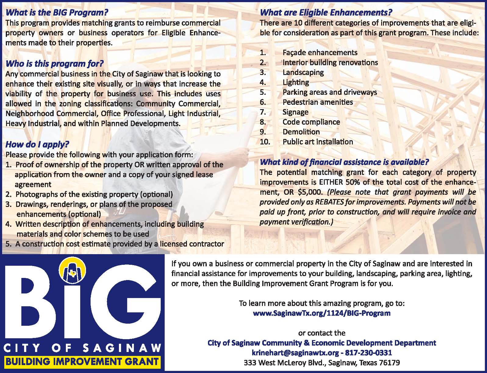 Marketing Flyer - BIG Program