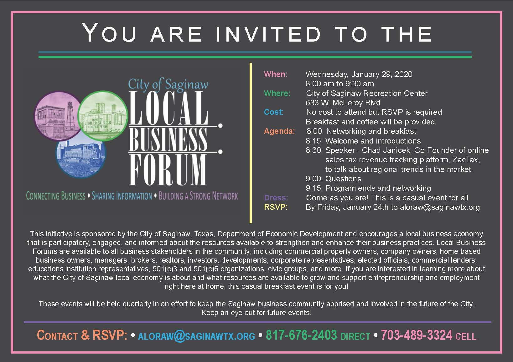 Local Business Forum- INVITATION Jan 2020