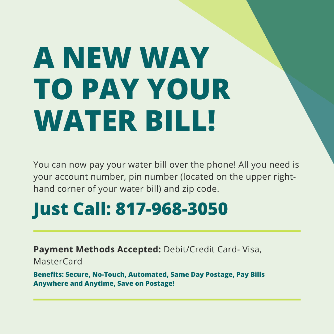 A NEW WAY TO PAY YOUR WATER BILL!2
