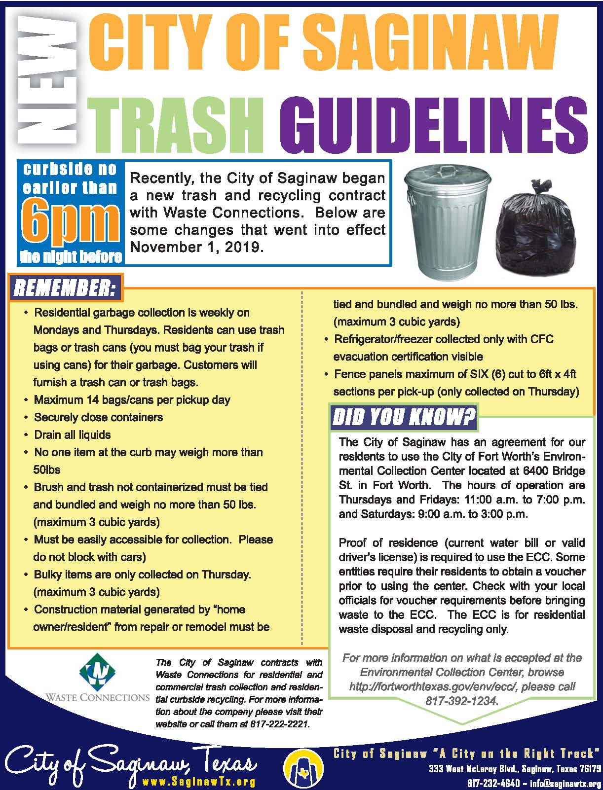 NEW Trash Rules 091420